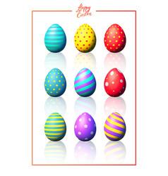 Easter eggs set vector