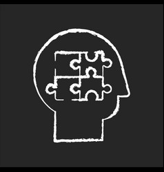 elaboration chalk white icon on black background vector image