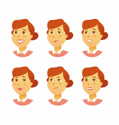 Female facial expressions - modern business vector