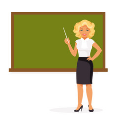 Female teacher vector