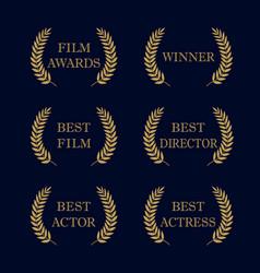 Film awards logo vector