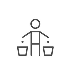 garbage separation line icon vector image