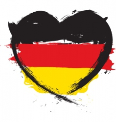 german heart shape flag vector image