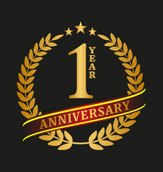 Golden anniversary logo celebration vector
