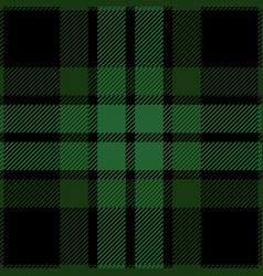 green and black tartan plaid seamless pattern vector image