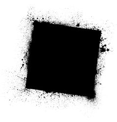 Grunge black frame vector