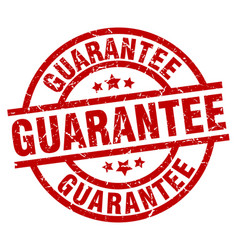 Guarantee round red grunge stamp vector