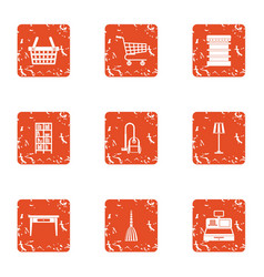 Hardware store icons set grunge style vector