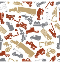 Heavy machinery color seamless pattern eps10 vector