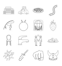 History fishing furniture and other web icon in vector