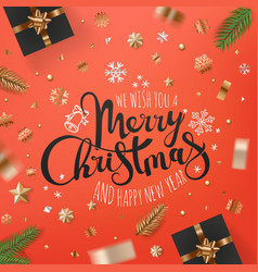 holiday greeting card banner with different vector image