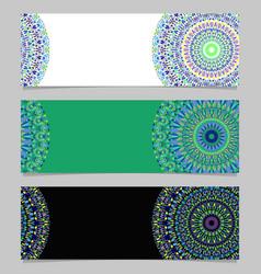 Horizontal geometrical abstract floral mandala vector