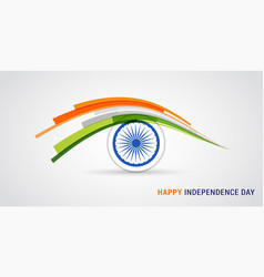 Indian holiday happy independence day celebration vector