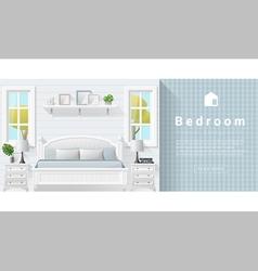 Interior design Modern bedroom background 9 vector image