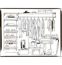 interior ink sketch vector image