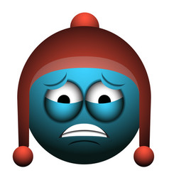Isolated worried emoji vector