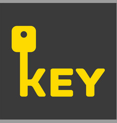 Key logo with letter k vector