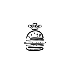king burger concept cartoon flat and doodle vector image