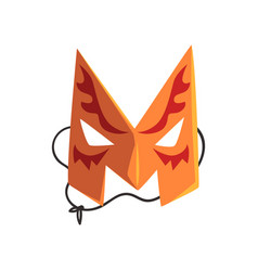 Letter m formed by colorful masquerade mask vector