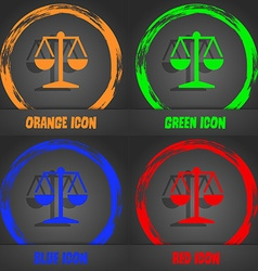 Libra icon Fashionable modern style In the orange vector