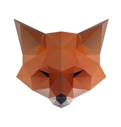 Low poly Fox vector