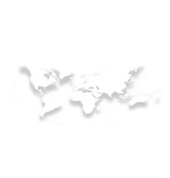 map of world simple bright white silhouette with vector image