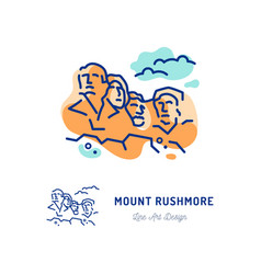 Mount rushmore national memorial travel icon vector