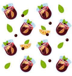 mulled wine glintwein pattern vector image