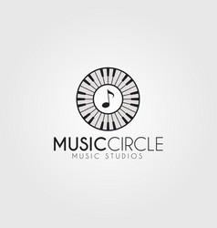 Music circle logo template vector