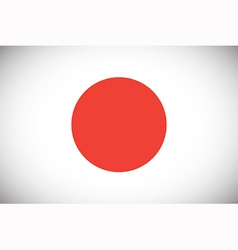 National flag of Japan vector image