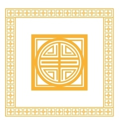 Oriental design knot icon vector