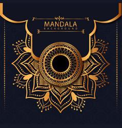 Ornament style luxury mandala background vector