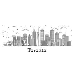 outline toronto canada city skyline with modern vector image
