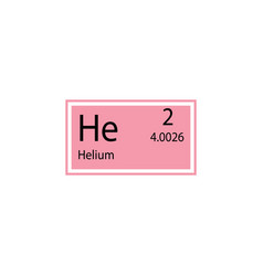 Periodic table element helium icon element of vector