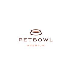 pet bowl logo icon vector image