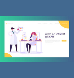 Pharmaceutic laboratory research concept scientist vector