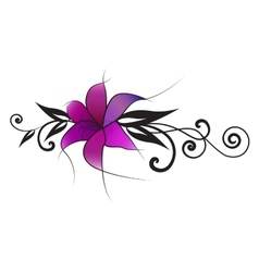 Purple lily vector