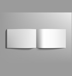realistic blank a4 landscape brochure on grey vector image