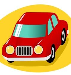 Red cartoon car vector image