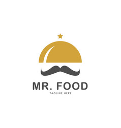 restaurant logo template mr food logo vector image
