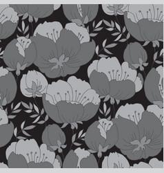rose flower pattern spring tree blossom vector image