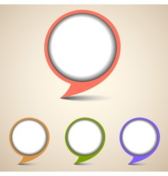 Round bubbles for speech vector image