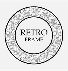 round ornamental frame vector image