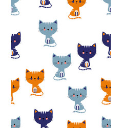 scandinavian cat pattern vector image