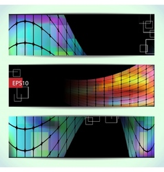Set of abstract hi-tech banners vector image