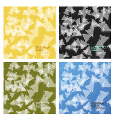 Set of abstract triangle background 3d triangles vector