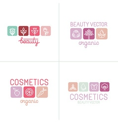 Set of icons and logo design templates vector