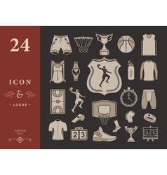 set of icons basketball vector image