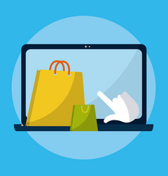 shopping online from laptop vector image