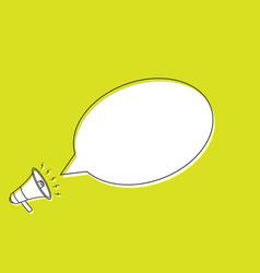 speech bubble in cartoon style vector image